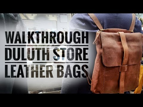 04a1faeb2a6 Duluth Trading Company Lifetime Leather Bags - Highlights of my Store Visit  - YouTube