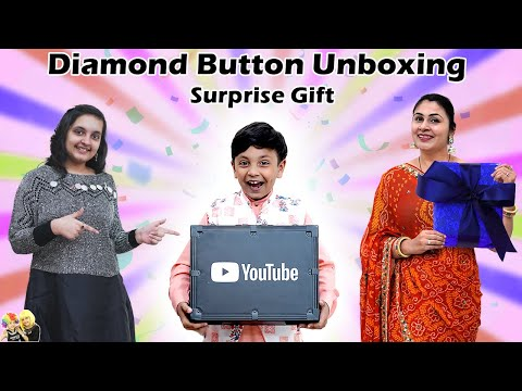 DIAMOND PLAY BUTTON UNBOXING | Surprise gift #Giveaway | Aayu and Pihu Show