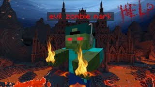 EVIL MARK OUR FRIENDLY ZOMBIE TRIES TO DESTROY OUR HOUSE !! Minecraft Mods