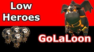 Clash Of Clans - Low Heroes GoLavaLoon vs Maxed Th9 !!
