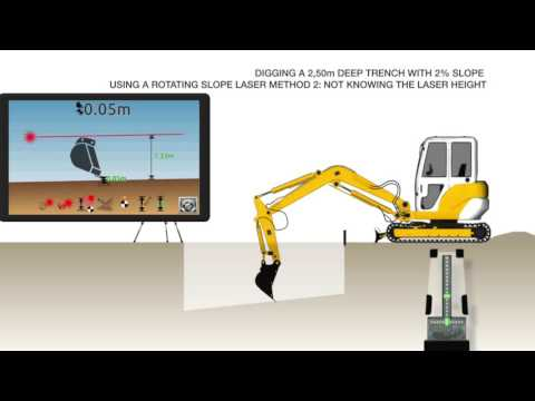 IDig System - Using Machine Control To Dig A Slope With Rotating Laser
