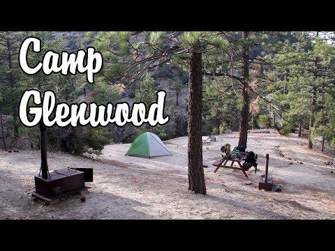 Camping at Camp Glenwood - Tarp & Hammock - Angeles National Forest