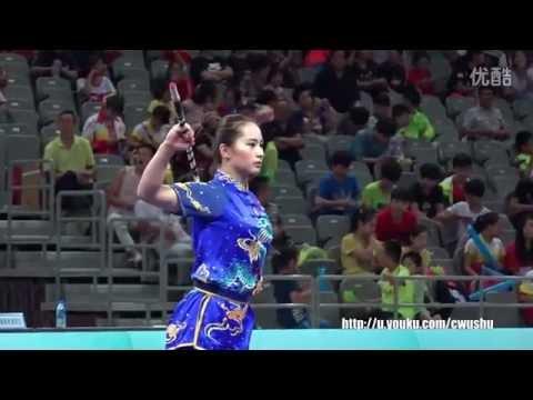 2016 China Wushu Championship(female)GunShu, 1st Place Wu Lingzhi