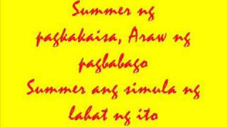 Ang Summer Ang Simula - ABS-CBN Summer Station ID (LYRICS)