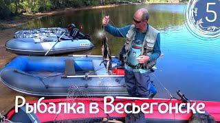 Рыбалка в Весьегонске день 5 Ловля щуки на воблер Ловля окуня на спиннинг летом