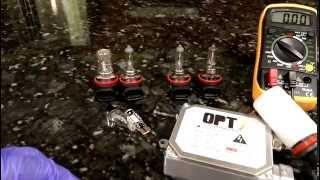 12 Volt Halogen / Incandescent vs LED and HID amp draw