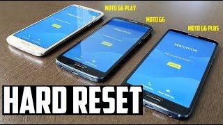 Hard Reset Moto G6 Play, Moto G6, e Moto G6 Plus (Restauração de fabrica)