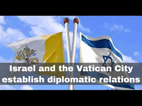 30th December 1993: Israel And The Vatican City Begin Diplomatic Relations