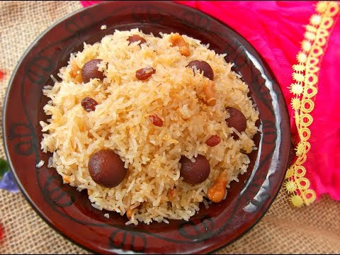 মিষ্টি পোলাও /বাসন্তী পোলাও || Bengali Mishti / Basanti Pulao || Sweet pulao, Sada Jarda, Mitha vat