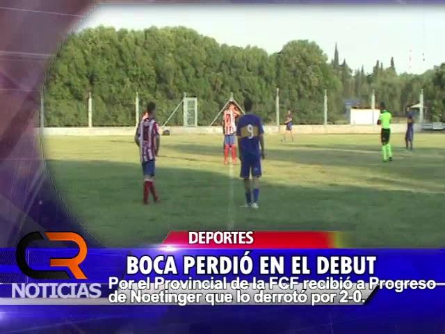 PROVINCIAL: BOCA vs PROGRESO NOTA CON DT Miguel RASCHETTI