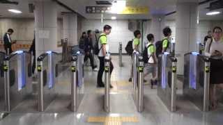 【ソウル首都圏電鉄】1号線 ソウルメトロ1号線 市庁駅改札 S.Korea Seoul Metropolitan Subway Line 1 City Hall Sta.