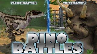 DINO BATTLES - Velociraptor vs. Triceratops