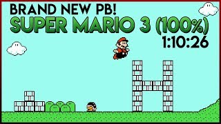 Super Mario Bros. 3 100% Speedrun New Personal Best 1:10:26