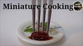 Tiny food #116 ミニチュア料理『 Pork Cutlet ソースカツ』How to make Miniature food (edible) Mini food