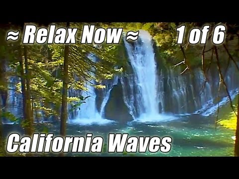 WATERFALLS: McCloud Falls + Burney Falls #1 CALIFORNIA BEACHES McArthur State Park Waterfall sounds