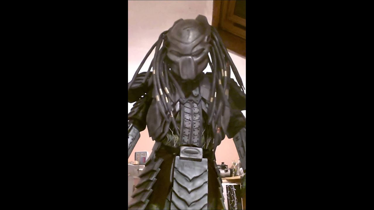 Dcar predator avp halloween costume homemade & Dcar predator avp halloween costume homemade - YouTube
