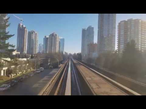 Vancouver SKYTRAIN: REAR SEAT VIEW (FOG) EXPO LINE WESTBOUND Pt. 2 New Westminster to Patterson