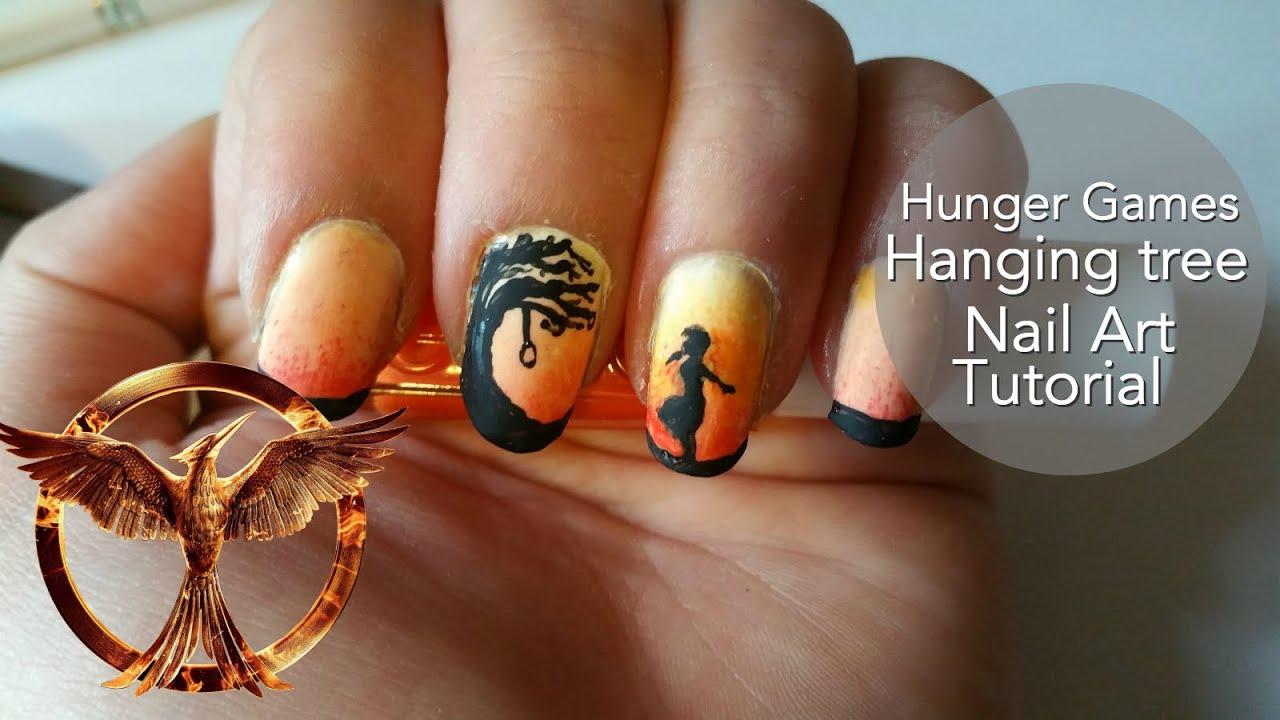 Hanging Tree (Hunger Games) Nail Tutorial - YouTube