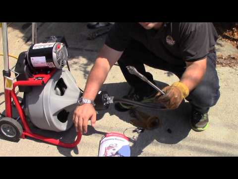 Ridgid K-400 Autofeed | Demonstration Drain Sewer Snake