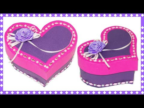 Easy DIY crafts | How to make gift box heart | Valentines day idea