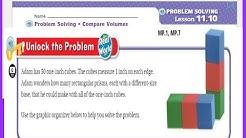Go Math 5th Grade Lesson 11.10 Problem Solving Compare Volumes