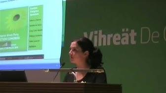 Johanna Sumuvuori Vihreiden puoluevaltuuskunnassa