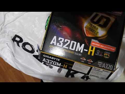 Материнская плата Gigabyte GA-A320M-H (sAM4, AMD A320, PCI-Ex16)