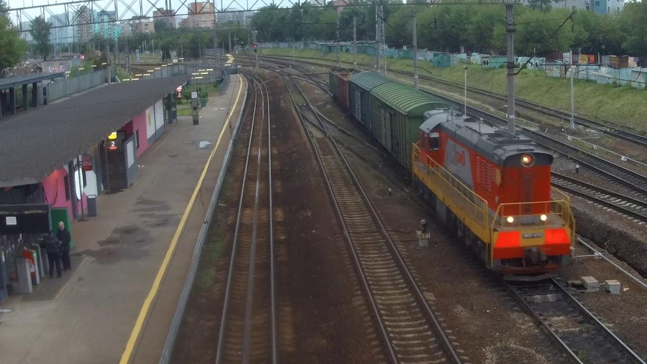 ЧМЭ3-4131 С маленьким грузовым поездом
