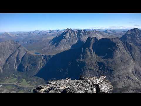 Peak view from Store Trolltind, Rauma, Romsdalen, Norway
