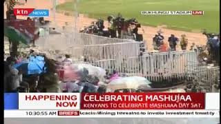 DP William Ruto alongside wife arrive at Bukhungu stadium | #MashujaaDay2018
