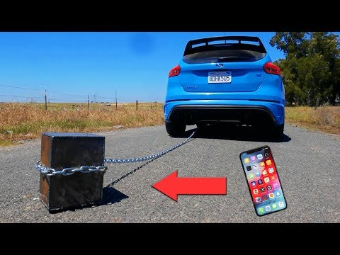 iPhone XS in Unbreakable Box VS 100MPH! - What Will Happen?