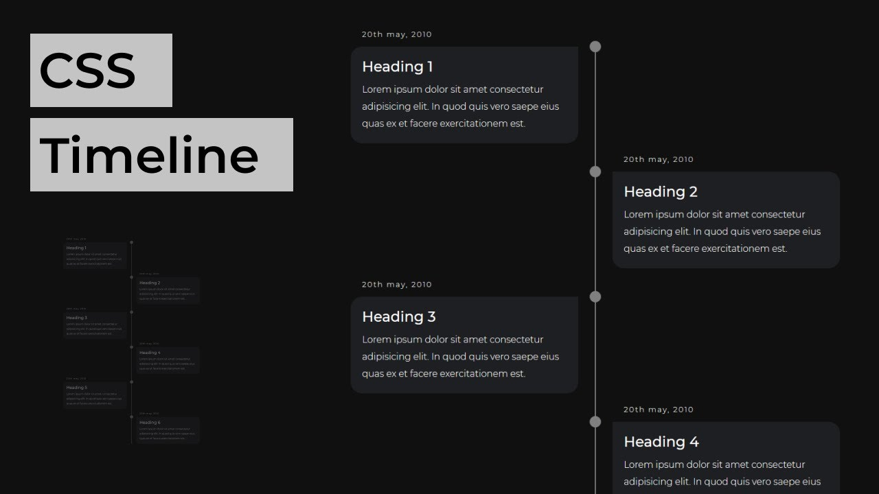 How To Create a Vertical Timeline Using HTML & CSS