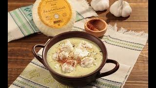 Суп с брокколи и адыгейским сыром