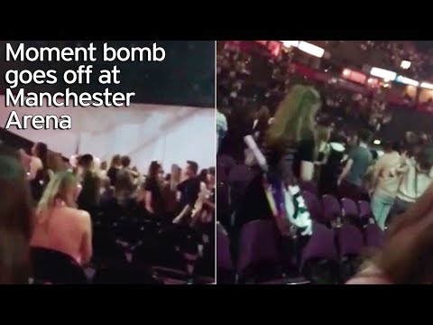 Manchester bomb attack 2017 after Ariana Grande Concert   The explosion and the panic in this video