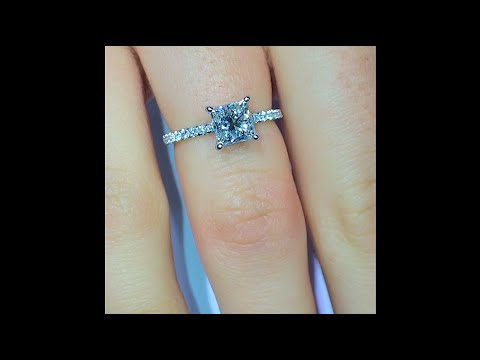 1.30 ct Princess Cut Diamond Engagement Ring