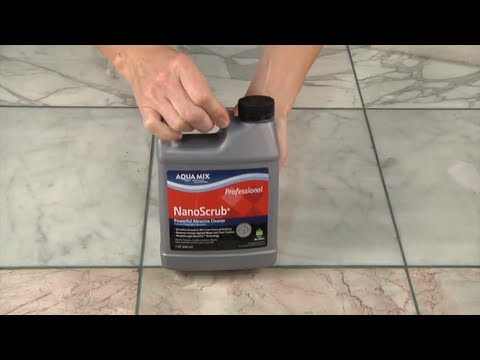 Remove Grout Haze from Polished Marble with Aqua Mix