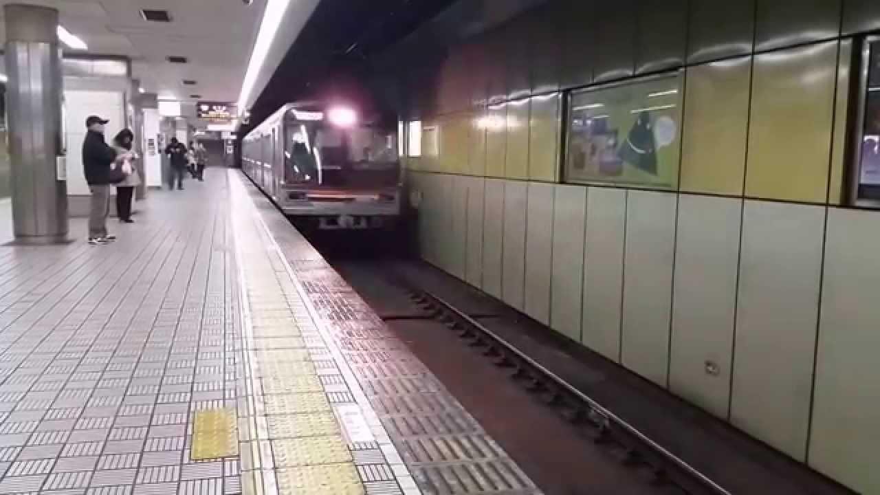 【大阪地下鉄堺筋線】66系 普通 北千里行き 恵美須町駅 到著 ...
