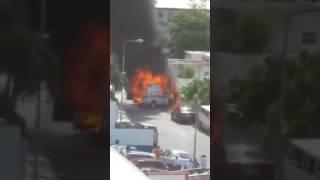 Ambulance Caught On Fire!