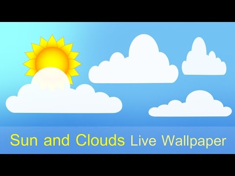Sun and Clouds Free Live Wallpaper 1