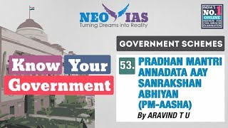 53. PM AASHA | GOVERNMENT SCHEMES | KNOW YOUR GOVERNMENT | NEO IAS