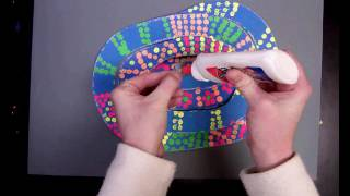 Neon Snake with black and white dots Video
