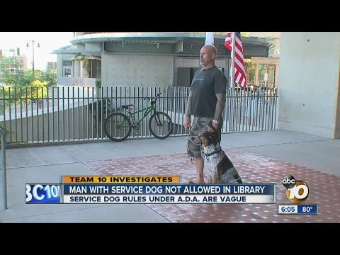 Man says he was kicked out of downtown San Diego library because of service dog