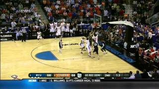 2011 NCAA March Madness Sweet 16 BYU - Florida highlights. Jimmer Fredette vs Gators