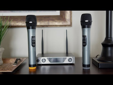 archeer wireless microphone set review youtube. Black Bedroom Furniture Sets. Home Design Ideas