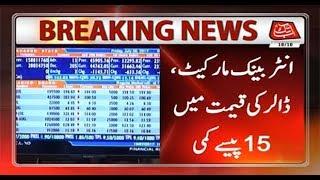 Dollar decreases by 0.15 Rupee in Interbank market
