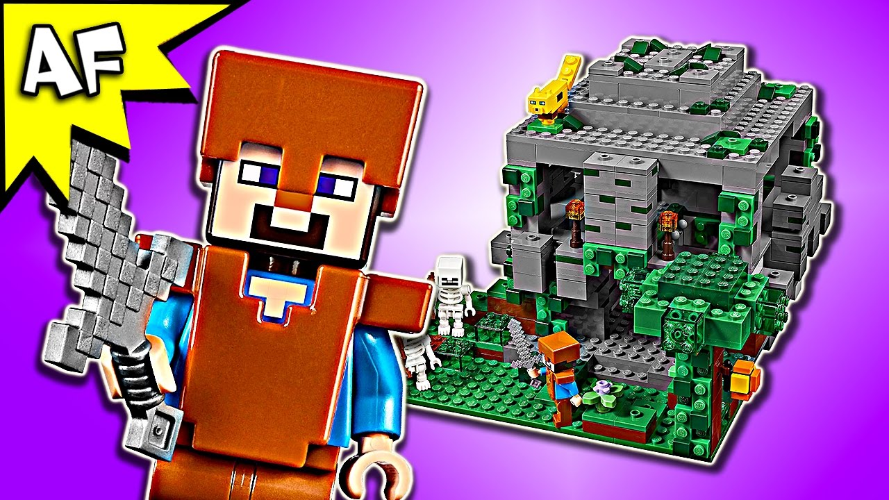 Lego Minecraft JUNGLE TEMPLE 21132 Speed Build - YouTube