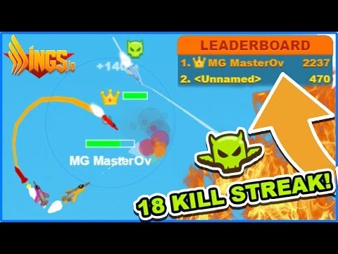 2K+ SCORE I AM THE KING! - WINGS.IO High Score Top Player - (Better Than Agar.io / Slither.io?!)