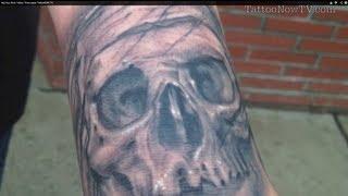 Big Gus Skull Tattoo Time-Lapse TattooNOW TV