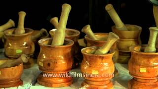 Handcrafted Wooden Items At Manipur Sangai Festival 2013