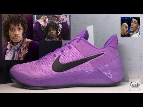 best website b45e9 d3c78 Purple Rain Nike Kobe AD Sneaker Detailed Shoe Review + Lonzo Ball Goes To  The Lakers